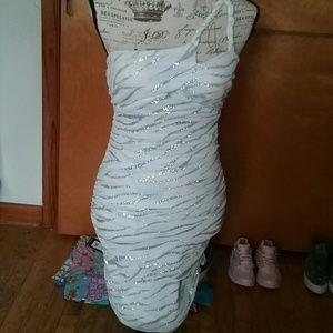 Teeze me glittery one shoulder dress (M)